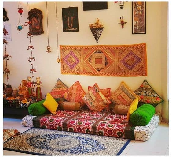 Alcove Prints and textures in Indian home decor