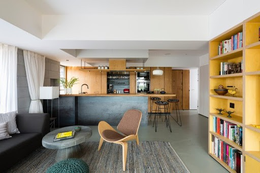 design as a continuation of the living room