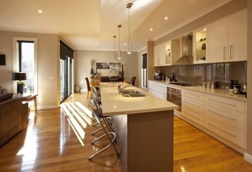 allocate space for kitchen island